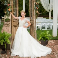 Vintage Gold Bead Bridal Gown