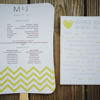 Modern Yellow Wedding Stationery