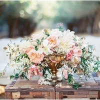 Lush Romantic Spring Centerpiece