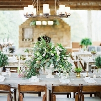 Rustic Spring Greens Centerpiece