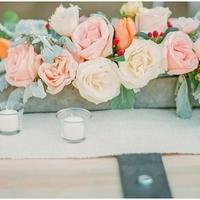 Peach Rose and Tulip Centerpiece