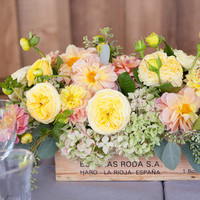 Vibrant Trough Centerpiece