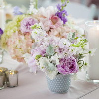 Purple Pastel Centerpieces