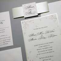 Stationery, green, invitation, Metallic