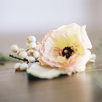 Peach and Berry Boutonniere