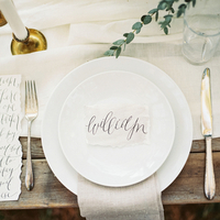 Sweet Organic Place Setting