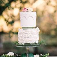 Pastel Ruffled Wedding Cake