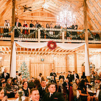 Rustic Holiday Barn Reception