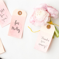 DIY: Dip Dyed Tags
