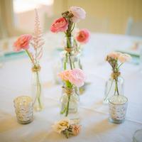 Pink Bud Vase Centerpieces