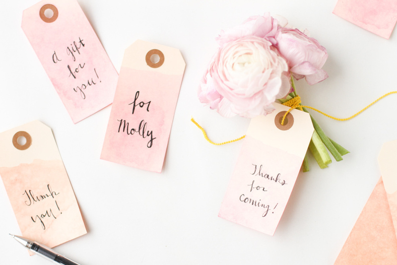 How To Make Wedding Gift Tags : DIY: Dip Dyed Tags - Project Wedding