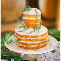 Herb Topped Naked Cake