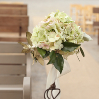 Rustic Hydrangea Aisle Markers