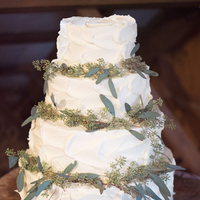 Seeded Eucalyptus Wedding Cake