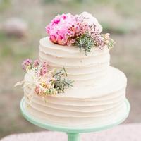 Sweet Peony Wedding Cake