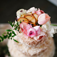 Fruit and Blooms Wedding Cake