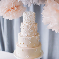 Two-Tone Sugar Flower Cake
