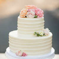Buttercream and Rose Cake