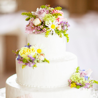 Spring Blooms Wedding Cake