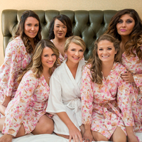 Pink Patterned Bridesmaid Robes
