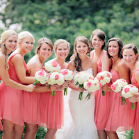 Jessica and her Bridesmaids