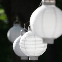 White Mini Paper Lanterns