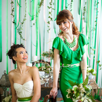 Green Bridesmaid Attire