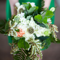 Green & White Bridesmaid Blooms