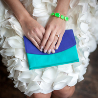 Color Block Bridal Clutch