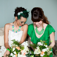Whimsical Bright Wedding Fashion