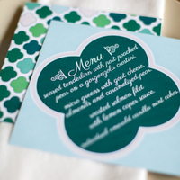 Clover Menu Card