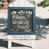 Beachy Chalkboard Sign