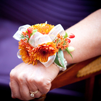 Orange Mum Corsage