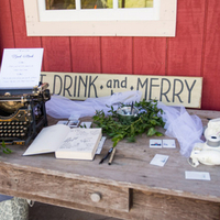 Barn Wedding Welcome Table
