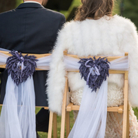 Lavender Heart Chair Decor