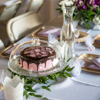 Pink Chocolate Covered Cake