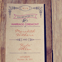 Fall Vineyard Wedding Invitations