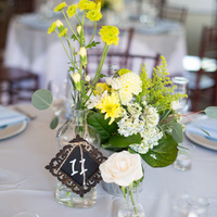 Yellow Wildflower Centerpieces