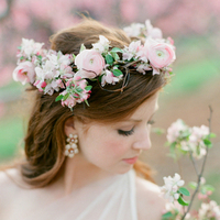Blush Spring Flower Crown