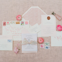 Pink Spring Wedding Invitation Suite