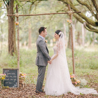 Simple Rustic Ceremony Altar
