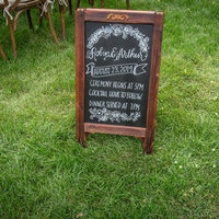 Elegant Chalkboard Ceremony Sign