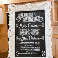 Vintage Chalkboard Menu Sign