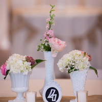 Milk Glass Bud Vase Centerpieces