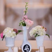 Milk Glass Bud Vase Centerpieces