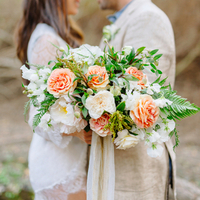 Peach and Green Bouquet