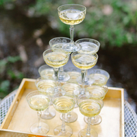 Champagne Saucer Tower