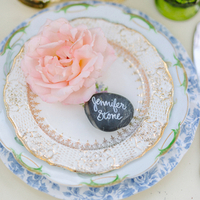 Mixed Vintage Place Setting