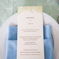 Spring Blue Place Settings