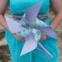 Pinwheel Bridesmaid Bouquets
